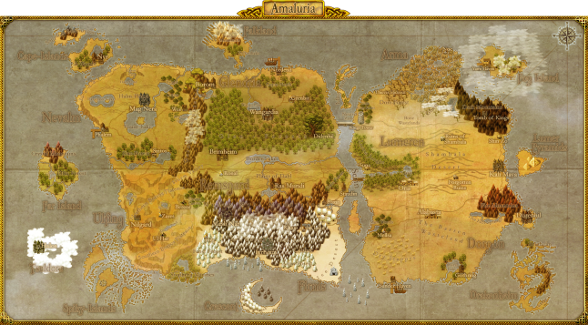 Amaluria - The island where the game takes place.